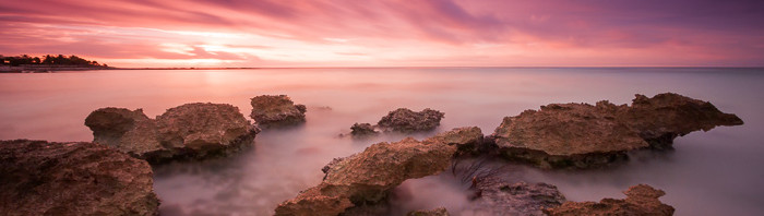 Riviera Maya Sunrise - Long Exposure Panoramic
