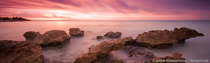 Riviera Maya Sunrise - Long Exposure Panoramic