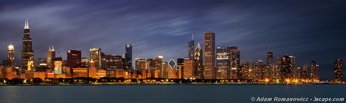 Chicago Skyline Panoramic