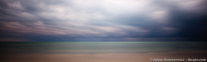 Storms over the Caribbean - Abstract Panoramic