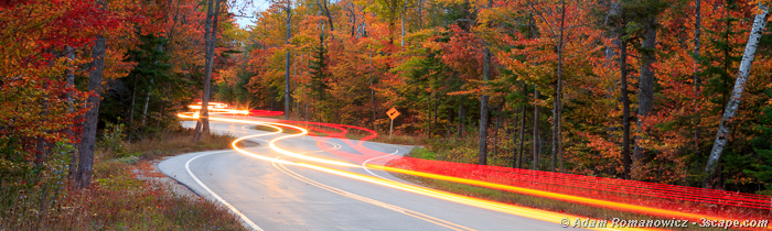 Curvy Road, Door County Wisconsin Panoramic