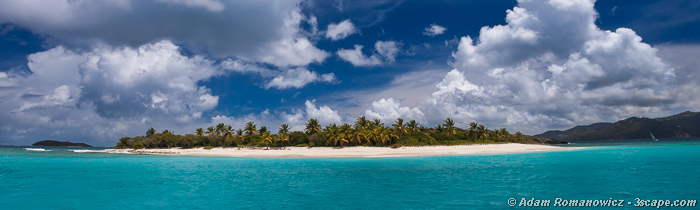 Sandy Cay, British Virgin Islands Panoramic