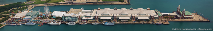 Navy Pier Aerial Panoramic