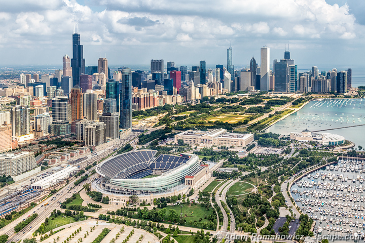 Soldier Field Chicago Aerial