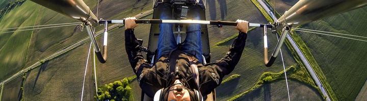 Trike aerial selfie.