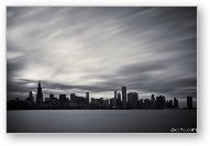 Chicago Skyline BW