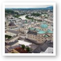 Panoramic view of Salzburg, Cathedral, St. Peter's