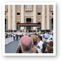 Pope John Paul II doing mass