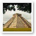 El Castillo - half reconstructed and half ruined