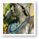 Fountain Lady Statue with beads