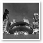 Buy Print of Cloud Gate and Skyline