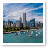 Buy Print of Chicago Skyline Daytime Panoramic