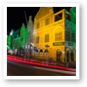 Shops in Willemstad at Night