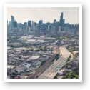 Kennedy Expressway and Chicago Skyline