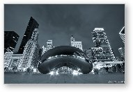Cloud Gate and Skyline - Blue Toned