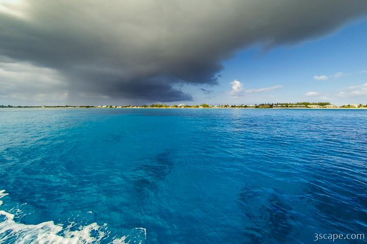 Deep blue waters of Grand Cayman