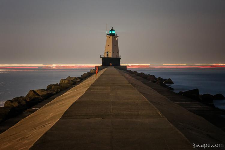 Ludington North Breakwater Lighthouse at Night