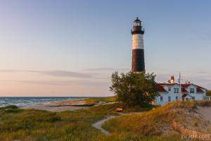 Historic Big Sable Point Light and Keepers house
