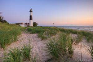 Ludington Beach and Big Sable Point Lighthouse