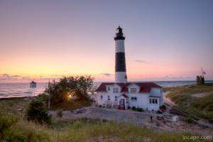 Big Sable Point Lighthouse at Sunset