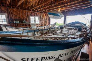 Boats at Sleeping Bear Point Life-Saving Station