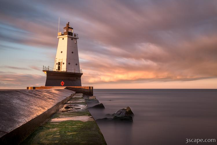 Ludington Light Sunrise Long Exposure