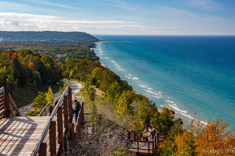 View of Lake Michigan Shoreline from Arcadia Overlook