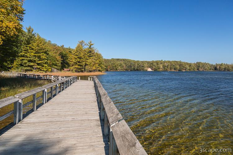 Boardwalk Along Hamlin Lake
