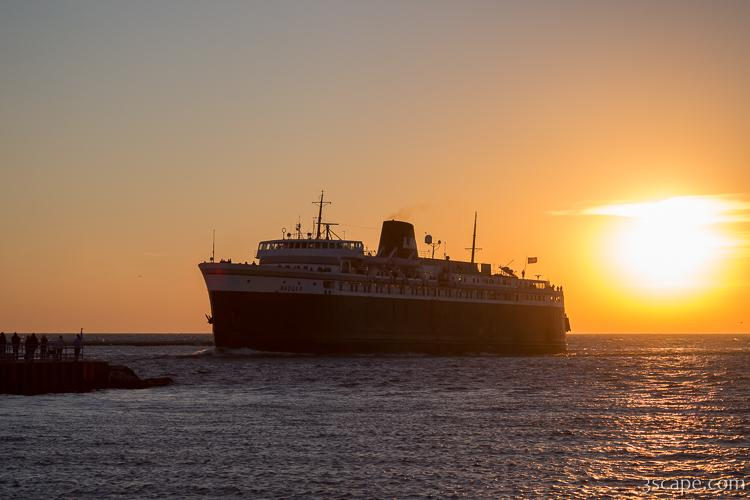 SS Badger Car Ferry at Sunset