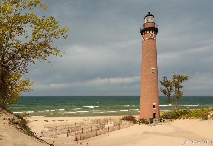 Little Sable Point Lighthouse on a Cloudy Day