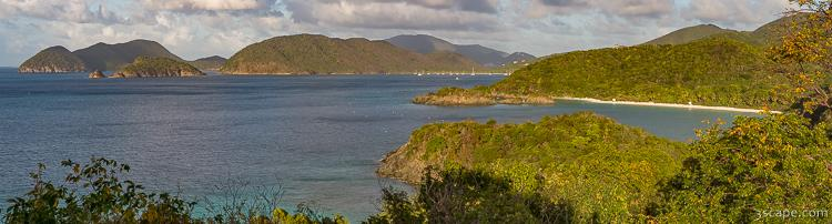 Trunk Bay Panoramic from Peace Hill