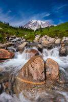 Mount Rainier Glacial Flow