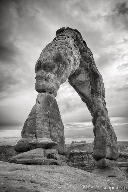 Delicate Arch Black and White