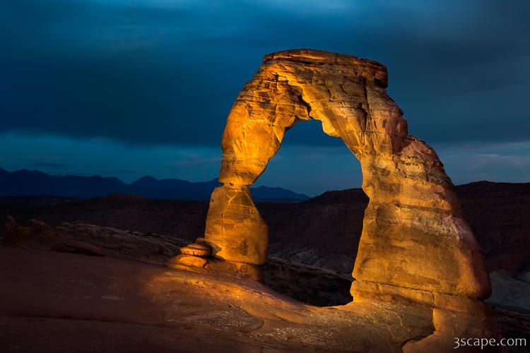 Delicate Arch at Night