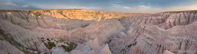 Badlands National Park Color Panoramic