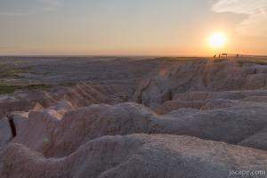 Badlands Overlook Sunset