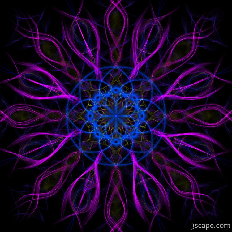Purple Blue Kaleidoscope Square