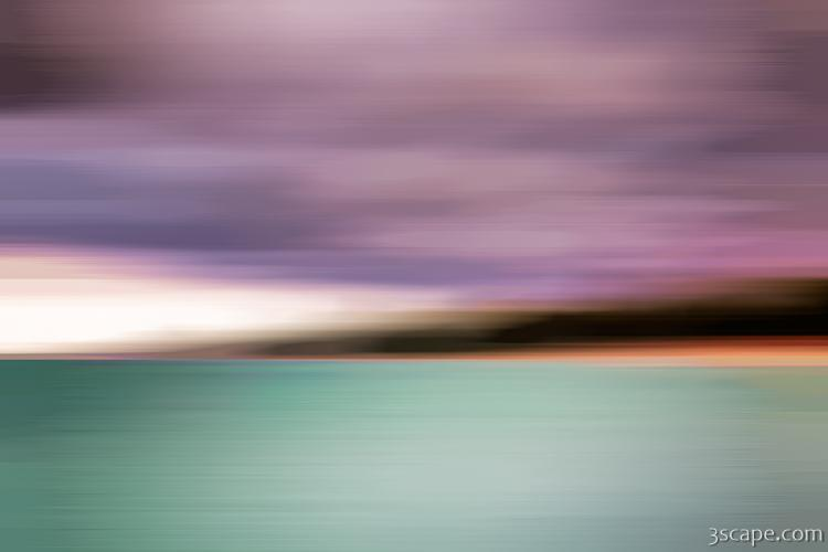 Turquiose Waters Blurred Abstract