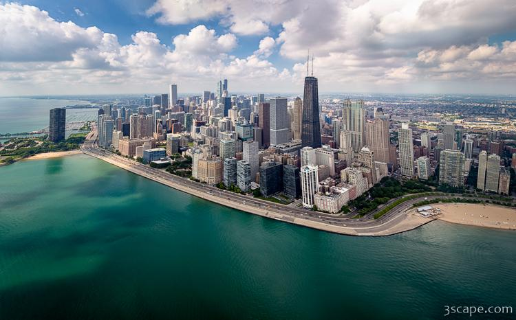 Chicago Gold Coast Aerial Panoramic Photograph Landscape Amp Travel Photography For Sale By Adam