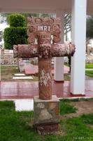 Cross in the La Pinta courtyard
