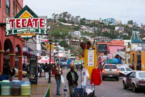 Back in Ensenada, in time for Marti Gras, but it rained.