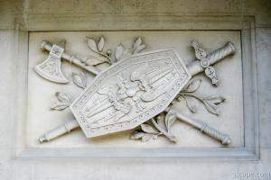 Wall sculpture on the Hofburg