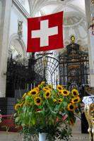 Swiss flag in Cathedral