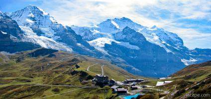 Swiss Alps panoramic (Monch and Jungfrau)