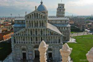 The Leaning Tower and Cathedral from the Baptistry