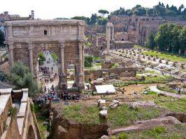 The Roman Forum with Arch of Septimius Severus
