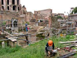 Workers at the Roman Forum