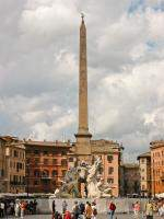 Fountain of the four Rivers and obelisk in Piazza Navona