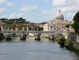 St. Peter and Tiber River