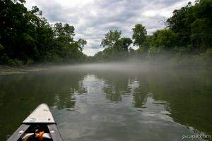 Fog on the Eleven Point River